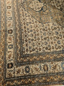 """Antique Tabriz rug. Handknotted. 8'1"""" x 11'4"""" .Purchased in 2009 through designer for $36,500. Modele's Price: 9500.-"""