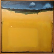 "**ITEM NOW SOLD**William Slater 'Field'. Acrylic on canvas. 1987.30.5"" sqOriginal List: $1800.- Modele's price: 895.-"