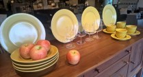 Williams Sonoma 16 pc. set dinnerware. 4 each; dinner plate/pasta bowl/cup/saucer. 65.- set