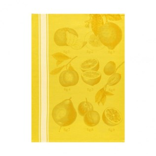 Le Jacquard Francais tea towel 'Citron'. 100% cotton. 24.-