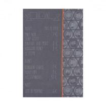 Le Jacquard Francais tea towel. 'Bar a vin'.100% cotton. Zinc 17.-