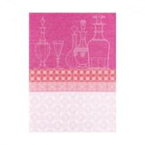 Le Jacquard Francais tea towel. 'Transparance framboise'. 100% linen. 33.-
