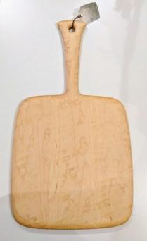 "Edward S. Wohl cutting board. 11.5"" x 22"" 175.-"