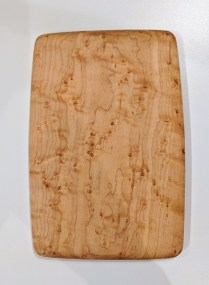 "Edward S. Wohl cutting board. 5.5"" x 8..25"" 30.-"