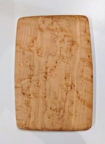 "Edward S. Wohl cutting board. 5.5"" x 8..25"" 30.-"