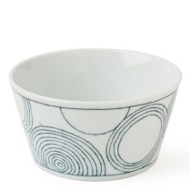 "Ito Tsumugi dipping bowl. ""Circles"" bowl. 5.25"" dia. 7.50 each"