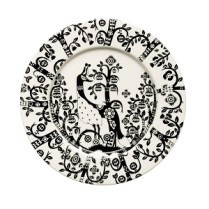 """'Taika' salad plate in black, 8.75"""". Also available in white and blue. 35. each"""