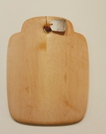 "Birds-eye maple cheese/ bread board. 13"" x 17"" 150.00"
