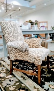 Dennis and Leen Upholstered Chair. Original Retail: $3000. Modele's Price: 695.-