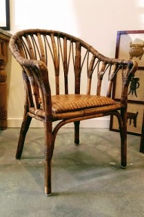** ITEM NOW SOLD.**Pair Rattan Armchairs. 595.- pair.