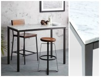 **ITEM NOW SOLD**West Elm Marble bar Height Table. Current Retail Price: $699.- Modele's Price: 195.-