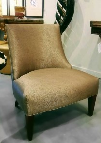 **ITEM NOW SOLD**Slipper Chair. From Trammel-Gagne Showroom from Seattle Design Center.Original List: 1800.- Modele's Price: 950.-