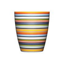 "'Origo' tumbler, 8.5 oz. Shown in orange, also available in ""brown"" (blues and brown). 20. each"