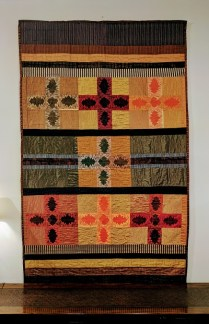 Margaret Liston. 'Burning Embers'. Saddle Blanket Art Textile. Purchased in the Northwest Woodworking Gallery in 2013. Original price Paid. $2200.- Modele's Price: 725.-
