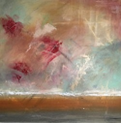 "'Rosy Outlook' 36"" x 36"" Acrylic on Canvas 1300.-"