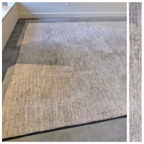 **ITEM NOW SOLD**Mafi International. Allure Smoke bamboo silk rug.Original Price: $2465.-Modele's Price: 1295.-
