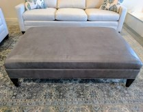 **ITEM NOW SOLD**Vanguard Ottoman. Custom made. Real leather.Original Price: $2958.-Modele's Price: 1495.-