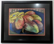 **ITEM NOW SOLD** Wendy Sweddell original pastel. 'Chiquita meets Mango', c. 1995-2000. Orig. Price: $275. + custom frame. Modele's Price. 150.-