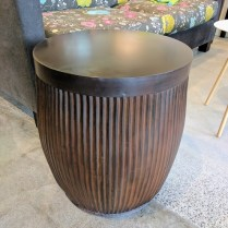 ** ITEM NOW SOLD.**Gulassa & Co. T102 Drum Table. Made from old English wash drum-no longer able to be sourced. Original List: $2340.-Modele's Price: 750.-