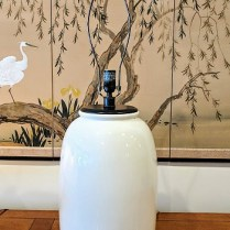 **ITEM NOW SOLD** Visual Comfort 'Han' table lamp base. Purchased in 2014. Full range dimmer switch. Current List: $566.90 Modele's Price: 250.-