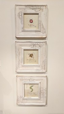 *ITEM NOW SOLD** Set 3 framed art pieces. 95.-/set 3