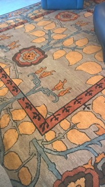 """Tufenkian hand knotted wool rug. Style: Inverness Color: Truffle. 10' .5"""" x 10' 5.5"""" Five years old. Orig. List: $8565. Modele's Price: 2950."""