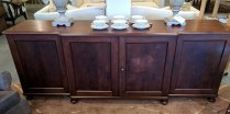 **ITEM NOW SOLD** Vintage buffet. Purchased from Pelayo Antiques in 1988. From Sweden. C. 1910's-1920's. Mahogany. 1795.-