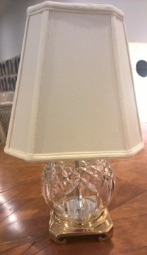 "**ITEM NOW SOLD** Waterford Lismore crystal lamp. Discontinued style. 3-way switch, 18.25""h. 195.-"