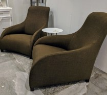 "**ITEM NOW SOLD** Pair B&B Italia MaxAlto 'Kalos' chairs. Approx. 9 years old. 29.75""w x 42""d x 35.25""h. Current List starts at $3,409 each. Modele's Price: 1850.- pair"