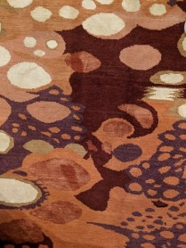 Detail of wool/silk custom hand-knotted rug. 8' x 10'. Made in Nepal. Never used in a home. Orig. List: $6,800. Modele's Price: 1950.-