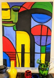"Original acrylic painting by Karrie Byhre-Kent, Portland artist. 30""w x 40""h 165.-"