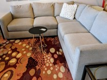 """**ITEM NOW SOLD** Room & Board 'Max' 3-pc. sectional. Purchased March 2015. 97"""" x 97"""". Orig. List: $3297. Modele's Price: 1395.-"""