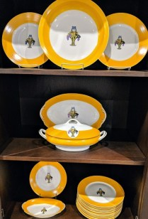 **ITEM NOW SOLD** 59 Piece set of F. LeGrand & Cie. Limoges china. c. 1925 28 dinner plates, and many serving pieces. 950. set