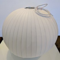 "**ITEM NOW SOLD** Herman Miller Nelson Ball Bubble Pendant. Designed by George Nelson. Never used in home. 26.5"" dia. x 23""h. (a slight bulge in one spot) Current List: $595. Modele's Price: 250.-"