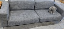 """**ITEM NOW SOLD** Roche Bobois 'Alane' sofa and pair of chairs, sold as set. Purchased in 2010. Sofa: 94""""l x 40""""d x 28""""h. Chairs: 30.25""""w 39""""d x 28""""h. Orig. List: $12,275. set Modele's Price: 4950.- set"""