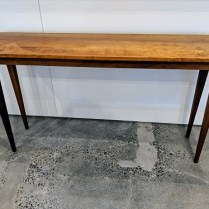 "**ITEM NOW SOLD** McKinnon cherry console. Approx. 20.-25 years old. 54""w x 14""d x 30""h 650.-"