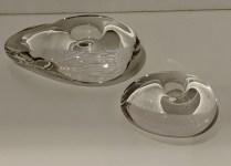 Set/2 Tiffany Elsa Peretti 'Glass Stone' candleholders. 150.- set/2