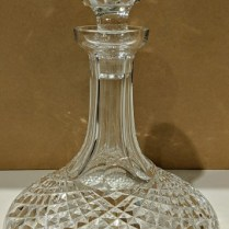 "**ITEM NOW SOLD** Crystal ship's decanter, believed to be 'Alana' by Waterford but marking is unclear. 10""h. 125.-"