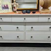 "**ITEM NOW SOLD** Ethan Allen dresser, 7 drawers. Five years old. 68""w x 20""d x 36.25""h. Orig. List: $2000. Modele's price: 895.-"