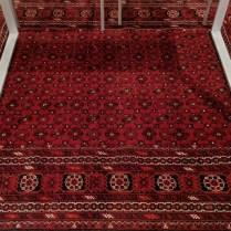 "**ITEM NOW SOLD** Afghan rug, just cleaned by D.A. Burns. Age unknown. 5'2"" x 6'3""l. 495.-"