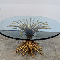 "**ITEM NOW SOLD** Vintage Italian cocktail table (""Hollywood Regency""). c. 1970's, no maker's name. 36"" dia. x 18.5""h 1100.-"