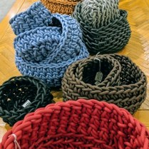 NEO baskets (made from neoprene) hand-woven in Rome. These are Rep's samples, never used. Not found anywhere else in Seattle. From 28.-345.