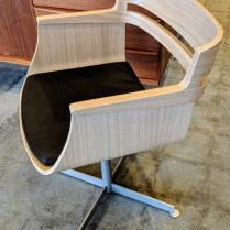 """**ITEM NOW SOLD** Set/4 Sare 'Kayak' dining chairs. Never used, no longer in production. 21.25""""w x 21.5""""d x 30.5""""h. Orig. List: $1250. per chair Modele's Price: 1950. - set/4"""