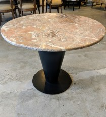 "Bieffeplast 'Cono' table base c. 1980's. Desgined by Joe d'Urso. Includes marble top (not original). 39"" dia. x 28.5""h. 495.-"
