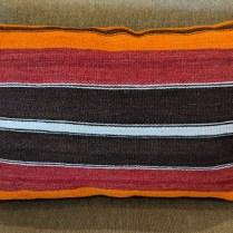 """Kilim pillow, from Turkey. 27""""w x 18""""h 75.-"""