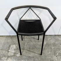 """Zeus 'Poltrocina' chair, designed by maurizio Peregalli in 1984. Purchased from Current in the 1980's. 21.5""""w x 17""""d x 26.75""""h. 275.-"""