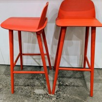 """Pair Muuto 'Nerd' bar-height stools. Purchased from DWR 3 years ago, discontinued color. Seat height: 29"""". Current List: $1090. + freight. Modele's Price: 395. pair"""