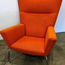 "Carl Hansen CH445 'Wing' chair, designed by Hans J. Wegner. Purchased from Inform in 2009. 35.5""w x 35.5""d x 40.5""h. Current List: over $7,000. Modele's Price: 2950.-"