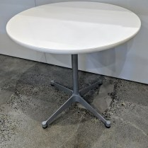"Herman Miller Eames cafe table with 'contract base'. 30"" dia. x 28.5""h. Current List: $895 Modele's Price: 225.-"