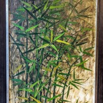 "**ITEM NOW SOLD** Framed vintage painting by Philippines artists Pablo Munez. Purchased in 1978. Acrylic on canvas. New frame in 2006. 22""w x 40""h. 295.-"